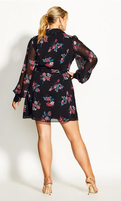 Love Floral Tunic - black