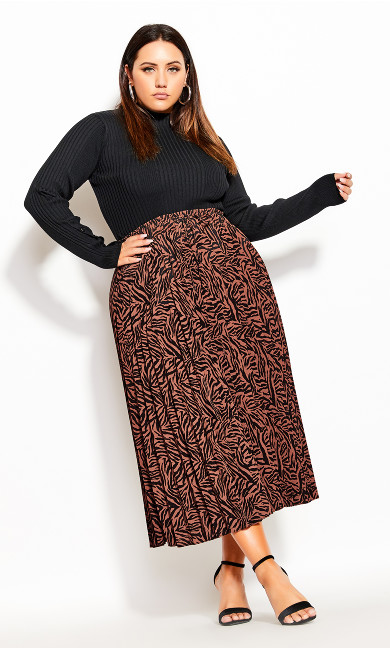 Plus Size Mini Tiger Skirt - mini tiger