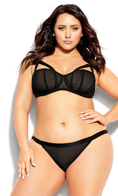 Plus Size Angelika Balconette Bra - black