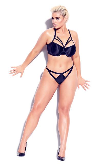 Plus Size Vixen Strappy Panty - black