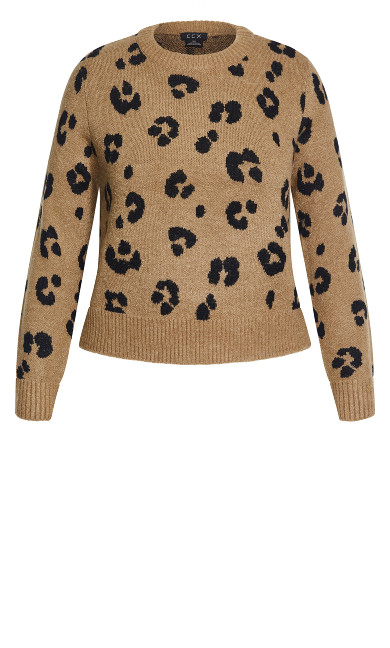 Cheetah Sweater - sand