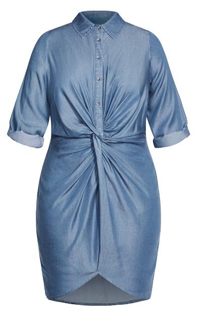 Utility Twist Dress - chambray