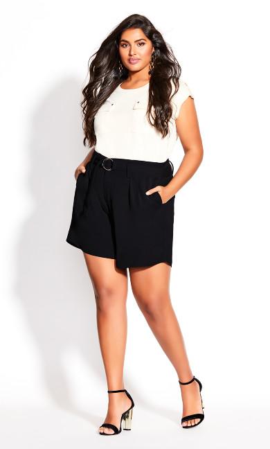 Plus Size Sweet Sway Short - black