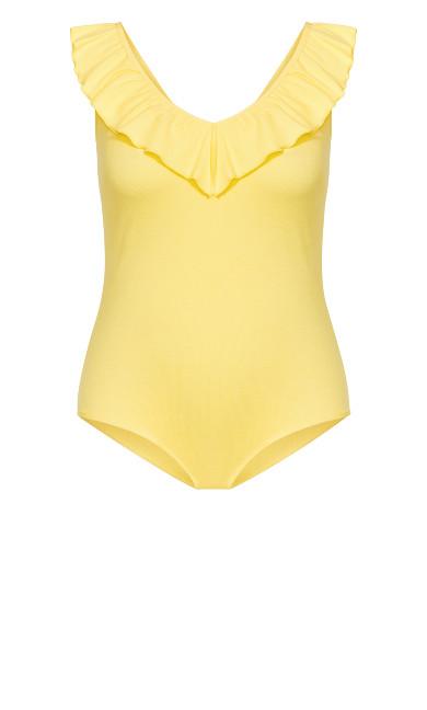 Frill Love Bodysuit - lemon
