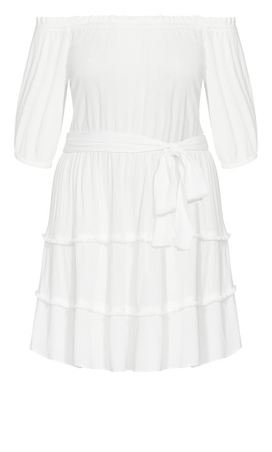Fiesta Fringe Dress - ivory