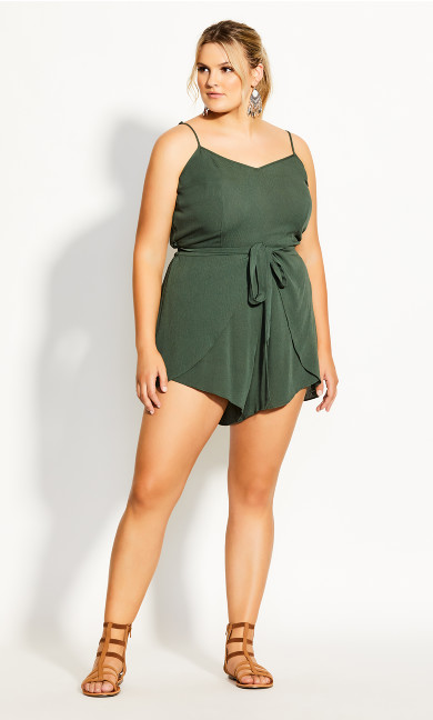 Tropic Tie Playsuit - jungle