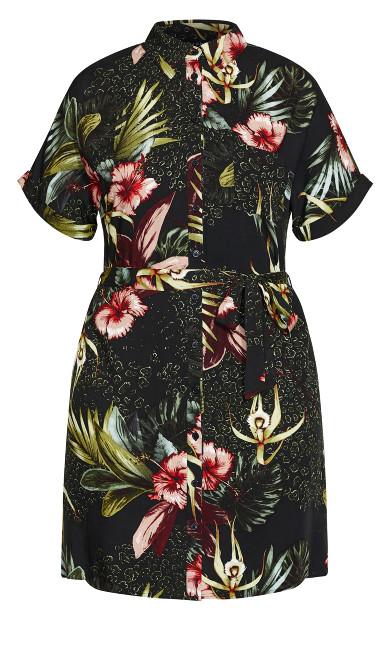 Phuket Shirt Dress - black