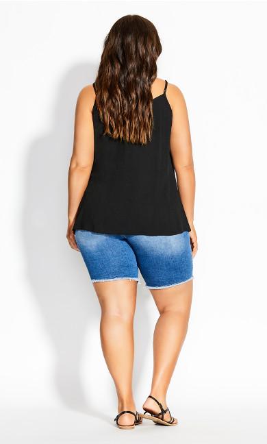 Tropic Button Cami - black