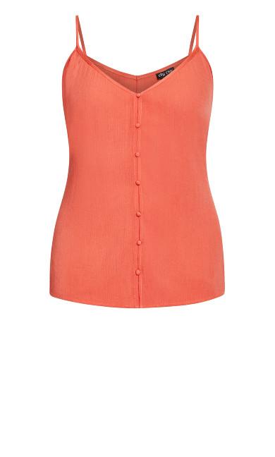 Tropic Button Cami - rust