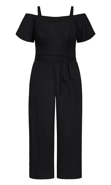 Cold Shoulder Jumpsuit - black
