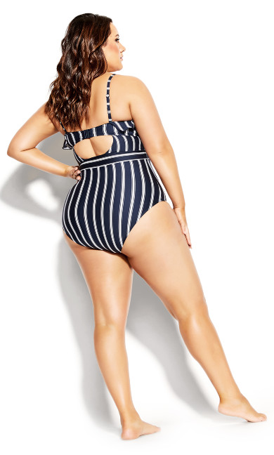 Dominica Stripe 1 Piece - navy