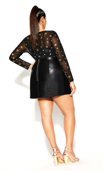 Sexy Split Skirt - black