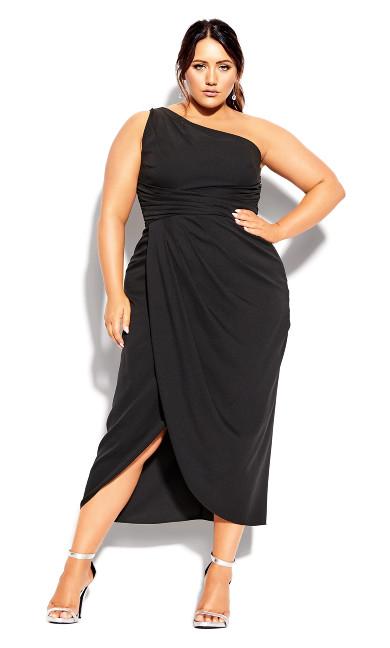 Plus Size True Love Dress - black