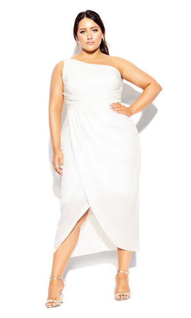 Plus Size True Love Dress - ivory