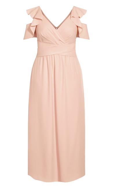 Frill Treasure Maxi Dress - pink