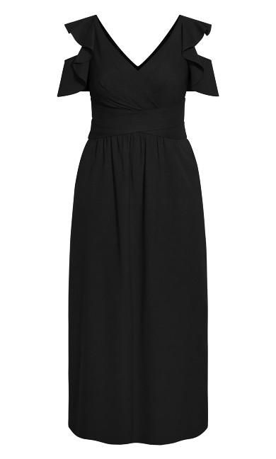 Frill Treasure Maxi Dress - black