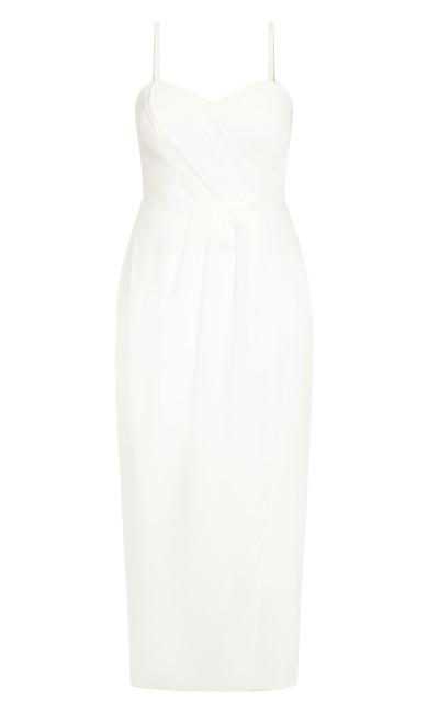 Sweet Drape Maxi Dress - ivory