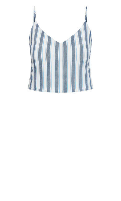 Breezy Stripe Top - ivory