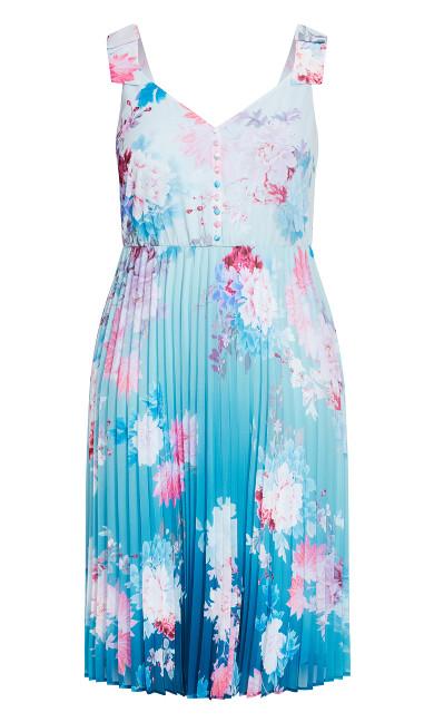 Tsubaki Dress - cerulean