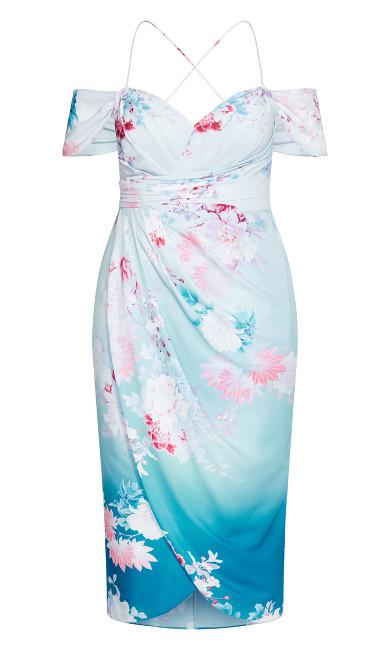 Tsubaki Twine Maxi Dress - cerulean