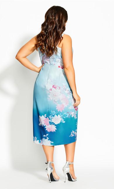 Tsubaki Love Dress - cerulean