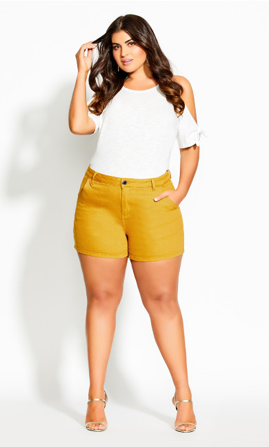 Women's Plus Size SHORT DENIM BREEZE