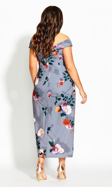 Floral Shadows Maxi Dress - mauve