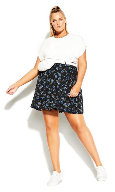 Ditsy Blues Skirt - black