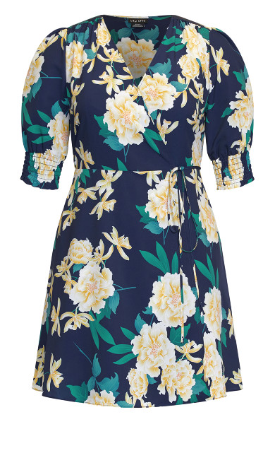 Shibuya Floral Dress - navy