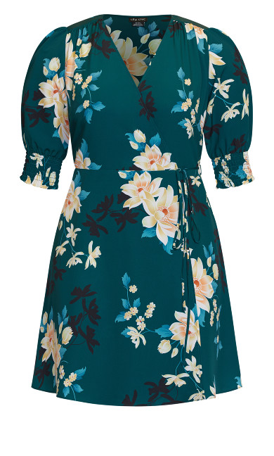 Otsu Floral Dress - forest