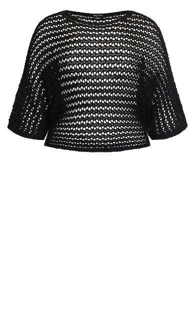 Cool Crochet Top - black