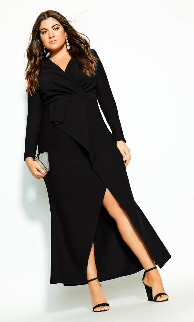 Plus Size One Dream Maxi Dress - black