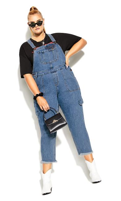 Plus Size Wild Overall Jean - black