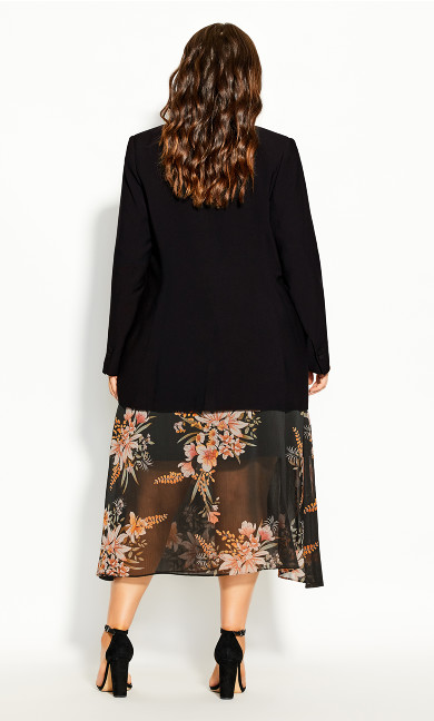 Essence Longline Jacket - black