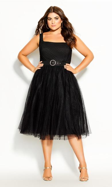 Plus Size Whimsy Fun Dress - black
