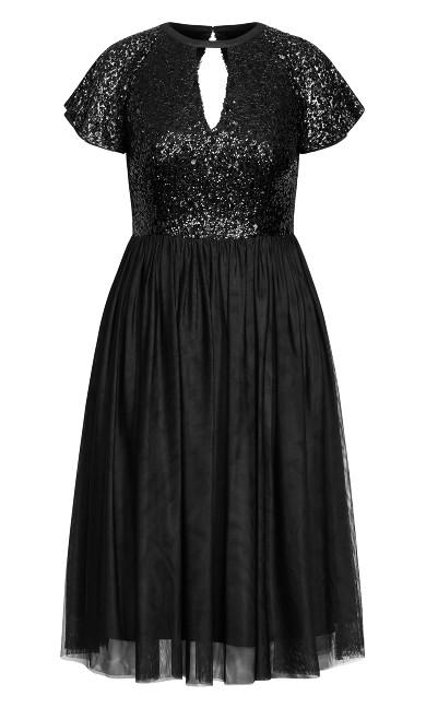 Sparkle Joy Dress - onyx