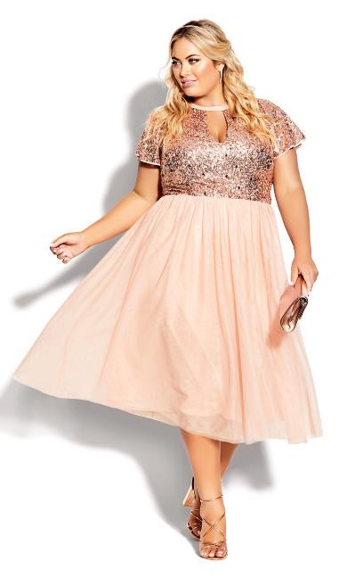 Plus Size Sparkle Joy Dress - quartz