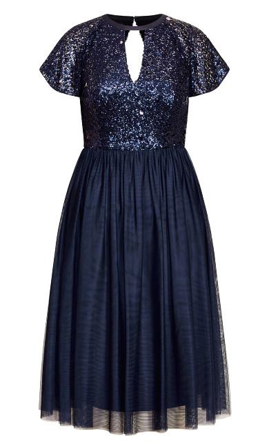 Sparkle Joy Dress - sapphire