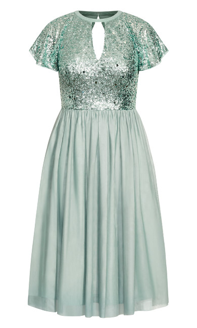Sparkle Joy Dress - topaz