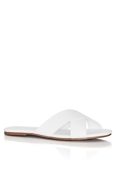 Plus Size Aditi Slide - white