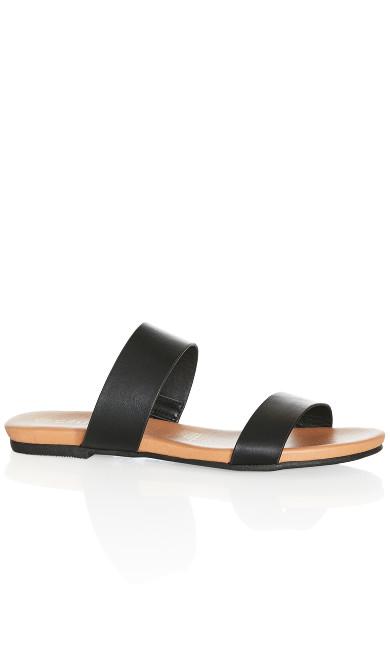 Plus Size Elina Slide - black