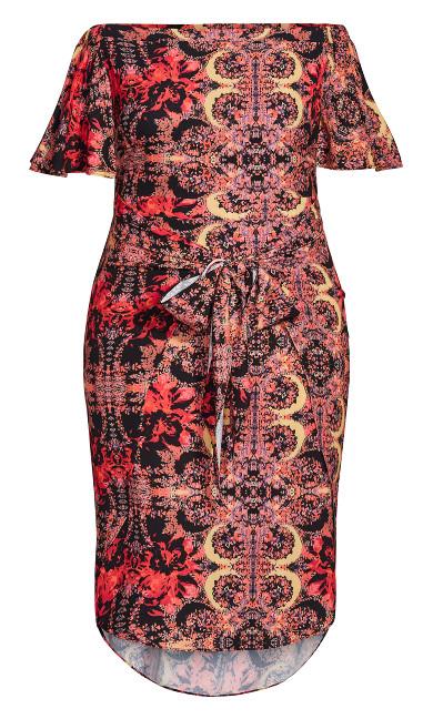Amile Print Dress - orange
