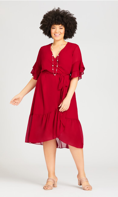 Plus Size Pacha Dress - red
