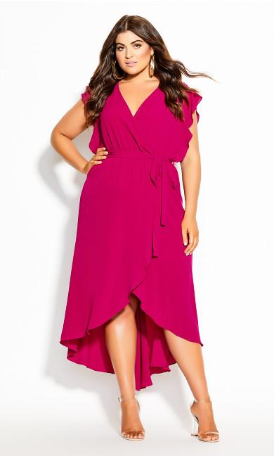 Romantic Mood Maxi Dress - magenta