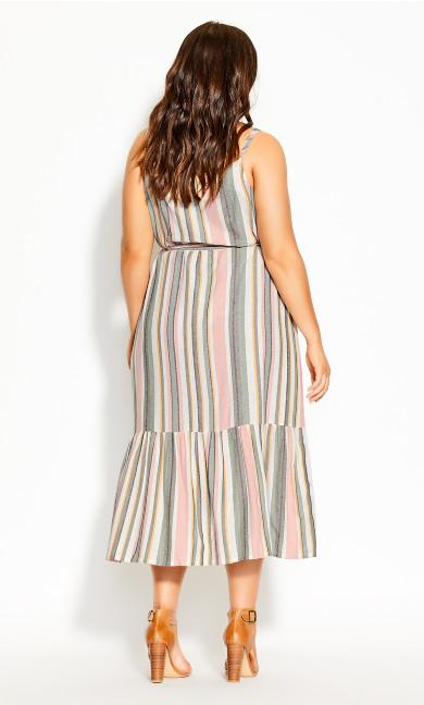 Wild Stripe Dress - natural