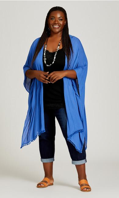 Plus Size Bilbao Kimono - blue