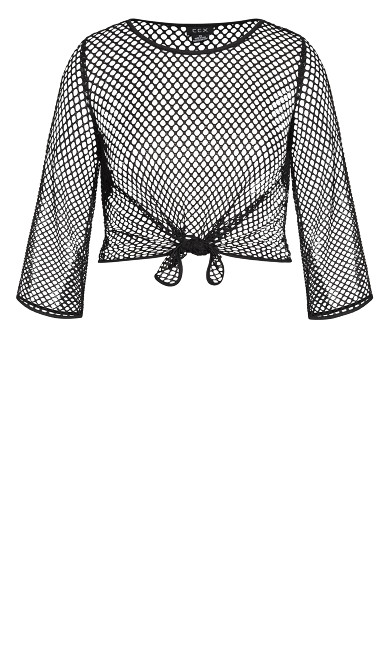 Mesh Knot Top - black
