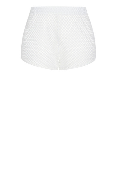 Scoop Mesh Short - white