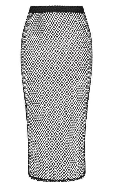 Mesh Maxi Skirt - black