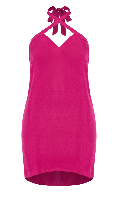 X Front Dress - hot pink
